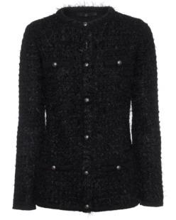 SLY 010 Fringy Knit Pocket Black