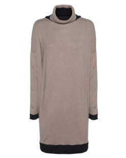 D.EXTERIOR Turtle Neck Long Beige