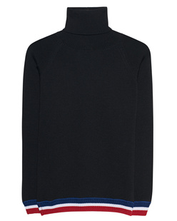 AVANT TOI Stripe Turtleneck Black