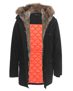IQ BERLIN Rabbit Fur Lining Black
