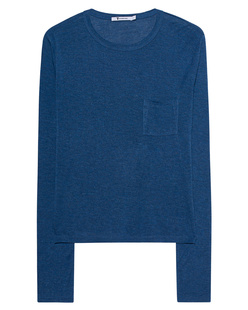 T BY ALEXANDER WANG Classic Cropped Long Sleeve Blue