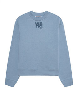 T BY ALEXANDER WANG Puff Paint Logo Slate Blue