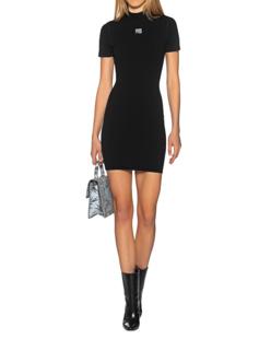 T BY ALEXANDER WANG Dress Logo Short Black