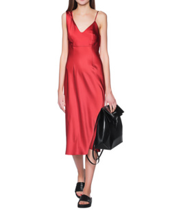 T BY ALEXANDER WANG Midi Slip Red