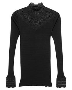 ROSEMUNDE COPENHAGEN Benita Silk Shirt Black