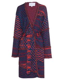 LALA BERLIN Anesa Fringes Jacquard Red Multi