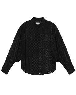 LALA BERLIN Blair Pattern Semi Transparent Black