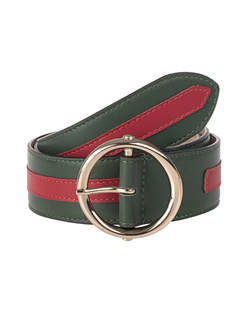 N.D.V. PROJECT Leather Stripe Green Red
