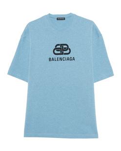BALENCIAGA Logo Shirt Lightblue
