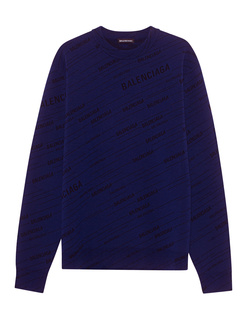 BALENCIAGA  Logo Knit Purple