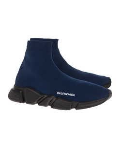 BALENCIAGA  Speed LT Black Sole Dark Navy
