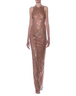 GALVAN LONDON Sequin Racer Copper