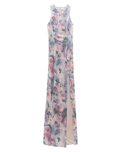GALVAN LONDON Floor Length Racer Floral