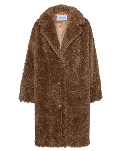 STAND STUDIO Anika Faux Fur Curly Camel