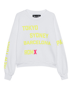 PAUL X CLAIRE Crew Wordings White