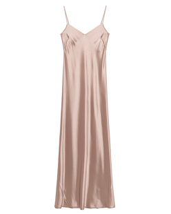 GALVAN LONDON Slip Dress Satin V Neck Nude
