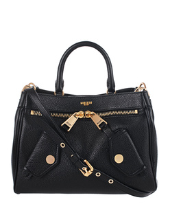 MOSCHINO One Handle Biker Black