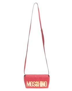 MOSCHINO Logo Embroidery Coral