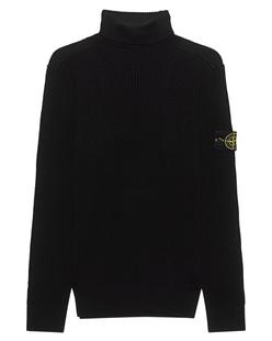 STONE ISLAND Rib Knit Badge Black