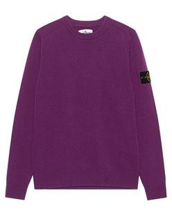 STONE ISLAND Wool Crew Purple