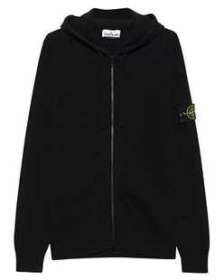 STONE ISLAND Zip Hood Badge Black
