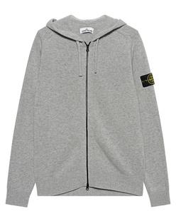 STONE ISLAND Zip Hood Badge Grey