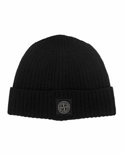 STONE ISLAND Wool Clean Black