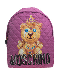MOSCHINO Quilted Backpack Pink