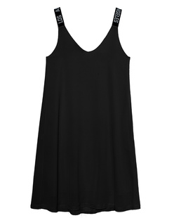 PAUL X CLAIRE Los Angeles Straps Dress Black