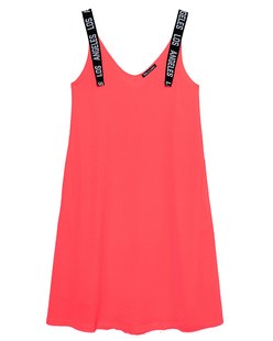 PAUL X CLAIRE Los Angeles Straps Dress Coral