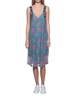 PAUL X CLAIRE Leo Dress Flower Turquoise