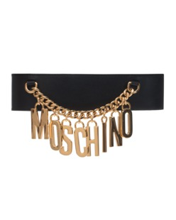 MOSCHINO Logo Chain Black