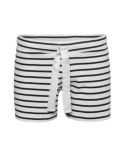 JUVIA Stripe Shorts Black Cream