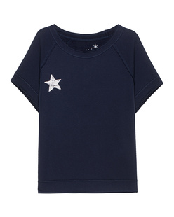 JUVIA Star Print Short Fleece Navy