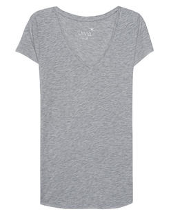 JUVIA Basic V-Neck Grey