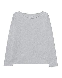 JUVIA Fleece Sweater Oversized Grey Melange