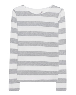 JUVIA Stripe Sweater Grey Melange