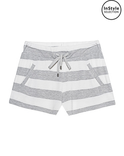 JUVIA Stripe Shorts Grey Melange