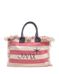 JUVIA Beach Bag Stripe Bubblegum