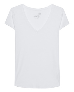 JUVIA V-Neck Basic White