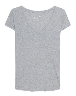 JUVIA V-Neck Basic Grey Melange