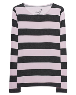 JUVIA Sweater Stripes Anthra Rosé