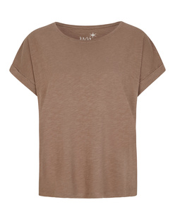JUVIA Crew Neck Boxy Tobacco Brown