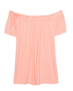 JUVIA Off Shoulder Basic Apricot