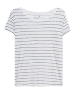 JUVIA Rolled Up Stripe White