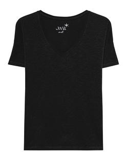 JUVIA Basic V-Neck Shirt Black