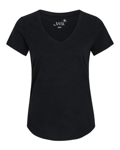 JUVIA Neck Fitted Black