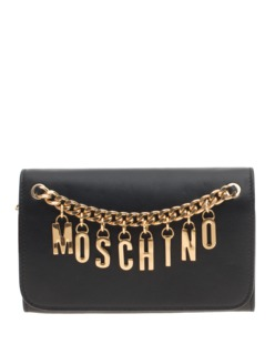 MOSCHINO Chain Letters Black