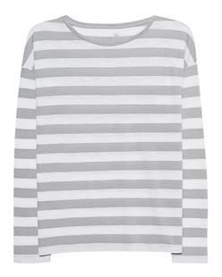 JUVIA Boxy Stripes Light Grey