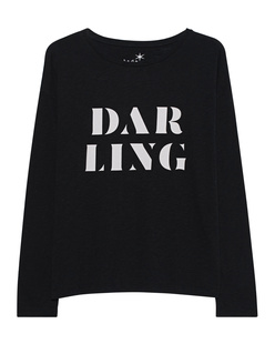 JUVIA Boxy Darling Print Black